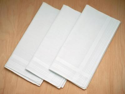 Set of 3 Fine Woven Mens Handkerchiefs with Criss Cross Stripes