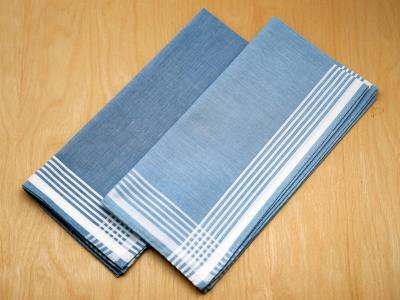 Set of 2 Different Blue Mens Handkerchiefs