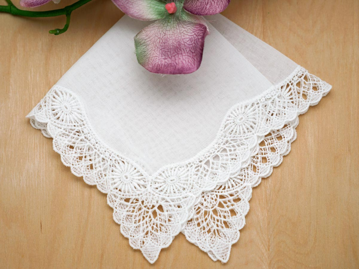 Sunshine German Guipure Lace Ladies Handkerchief