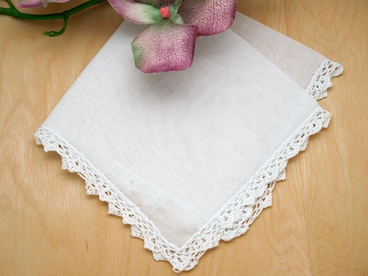 Set Of 3 Triangle Crochet Lace Wedding Handkerchiefs