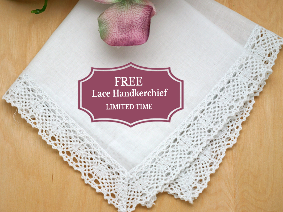 1 FREE Honeycomb Lace Handkerchief (Limit 1 Per Customer)