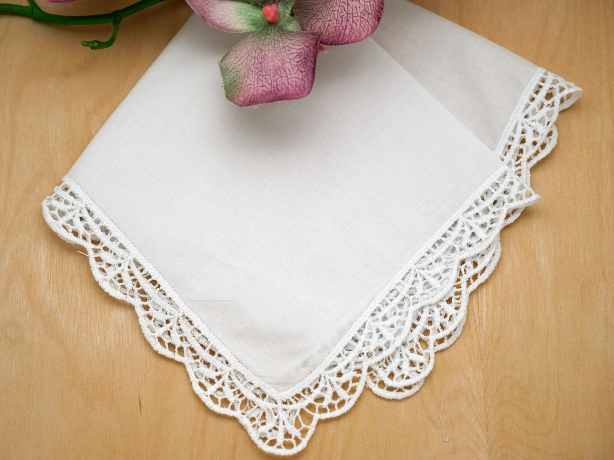 embroidered handkerchiefs wedding mom dad english garden lace ladies handkerchief