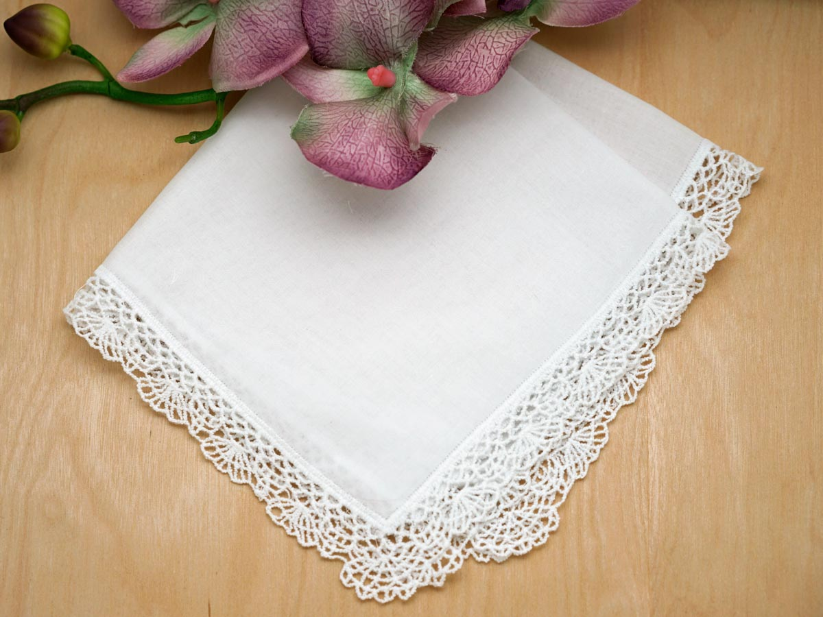 embroidered handkerchiefs wedding etsy set of shell cluny lace wedding handkerchiefs