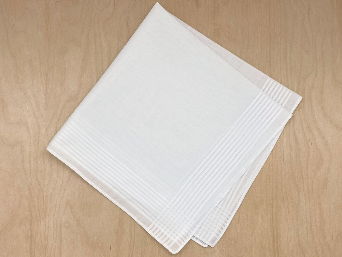 1 Free Mens Handkerchief with Thin Stripe Border (Limit 1)
