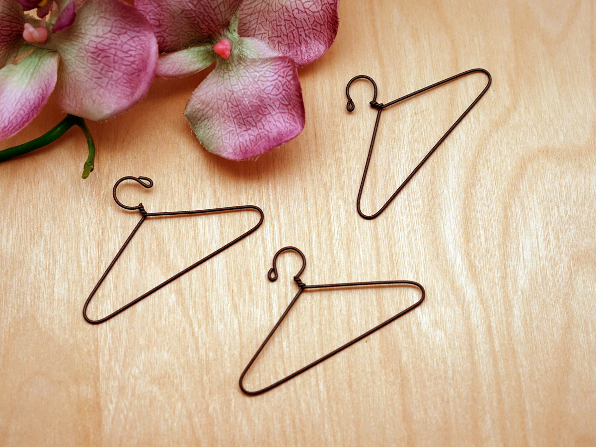 Set of 3 Miniature Hanky Dress Wire Hangers