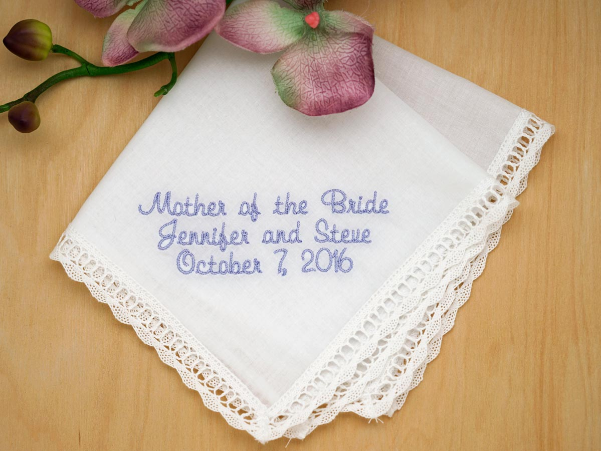Personalized Up To Four Lines of Your Choice Hankie - Font N