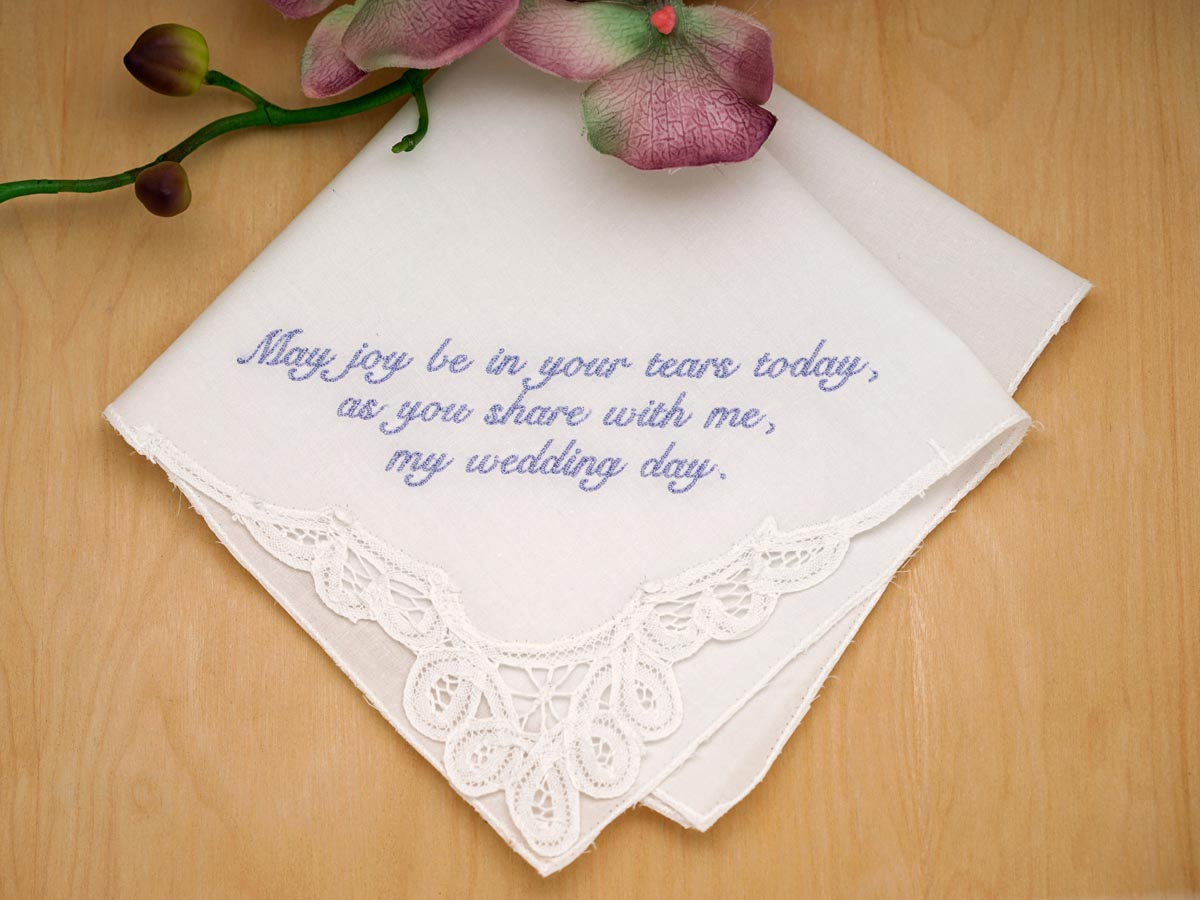 Personalized Up To Four Lines of Your Choice Hankie - Font S