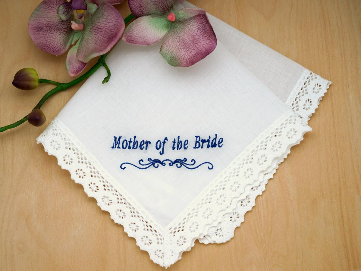 Mother of the Bride Personalized Handkerchief - Font I
