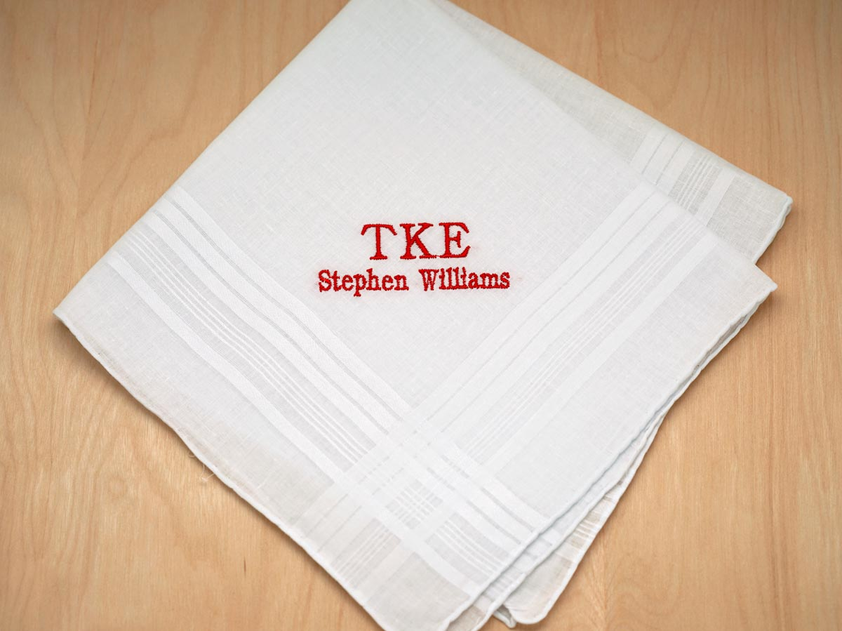 Personalized Mens Greek Fraternity Handkerchief
