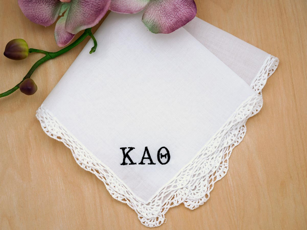 Sorority Greek Personalized Ladies Handkerchief