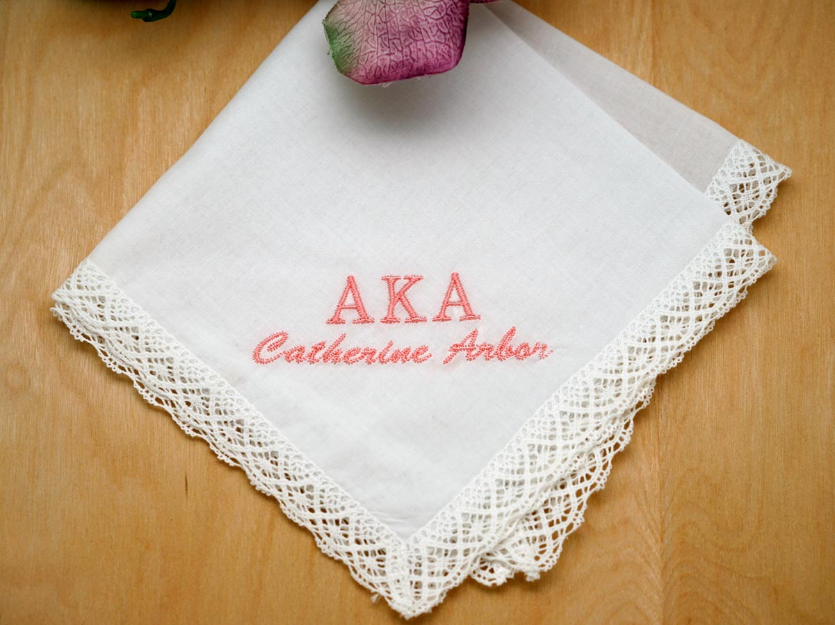 Personalized Sorority Greek Ladies Handkerchief