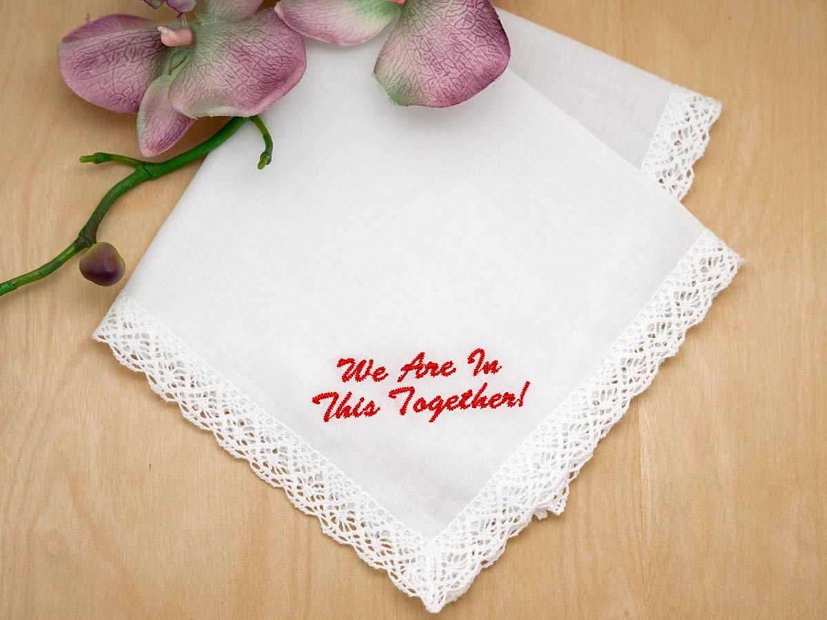 Personalized with Your Wording Quarantine Handkerchief Font L