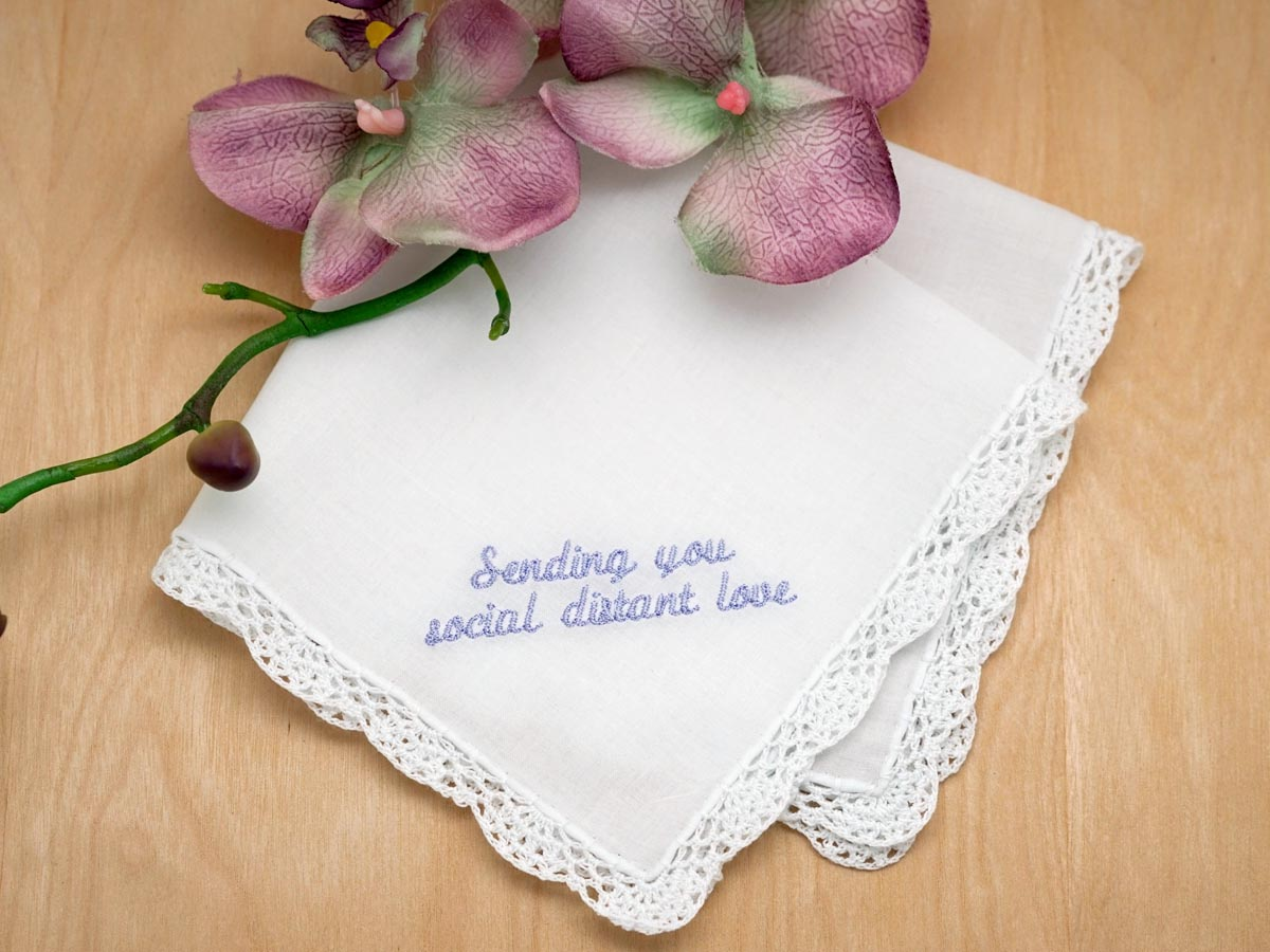 Personalized with Your Wording Quarantine Ladies Hankie - Font Q