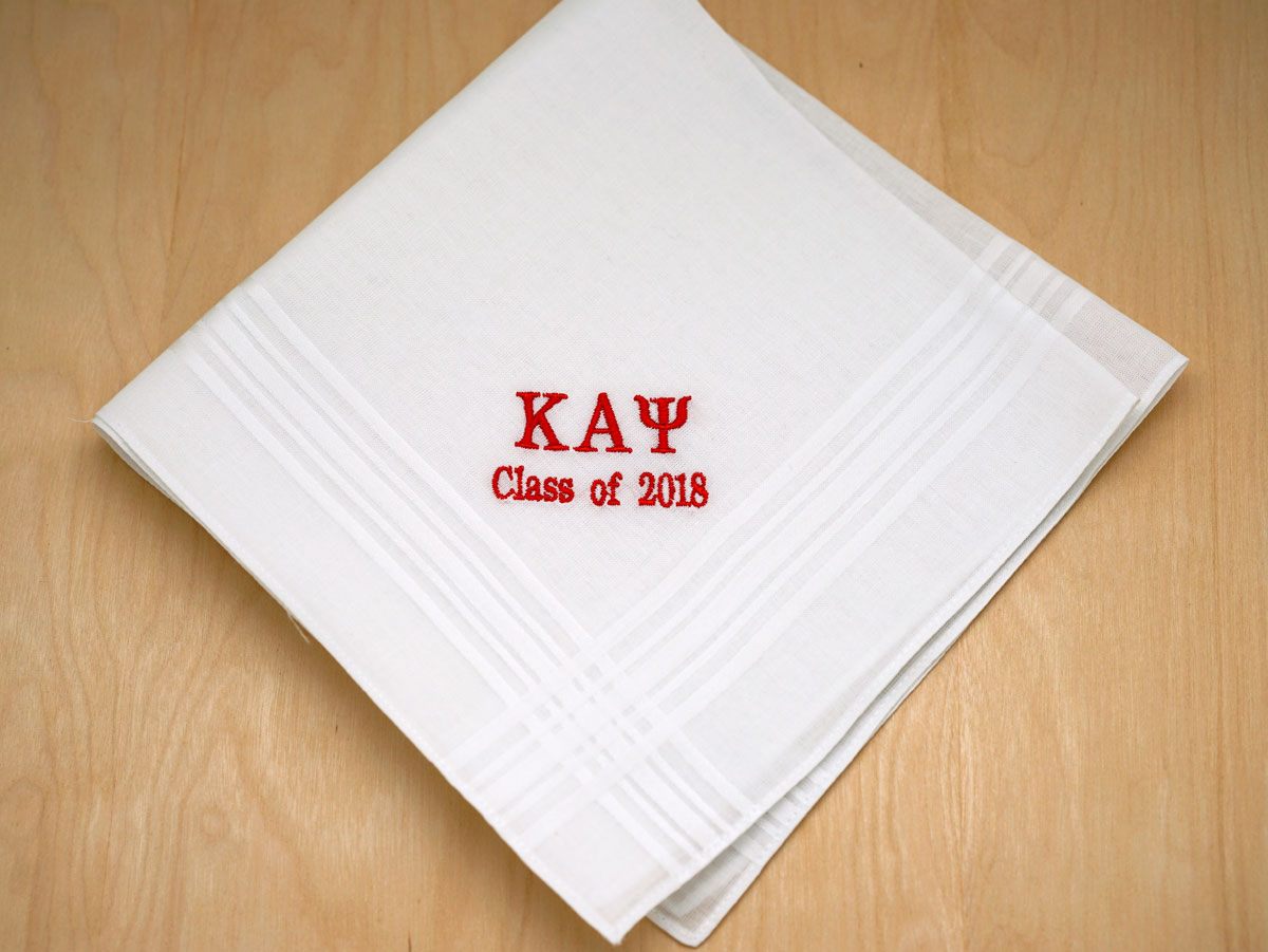 Personalized Fraternity Graduation Mens Hankie