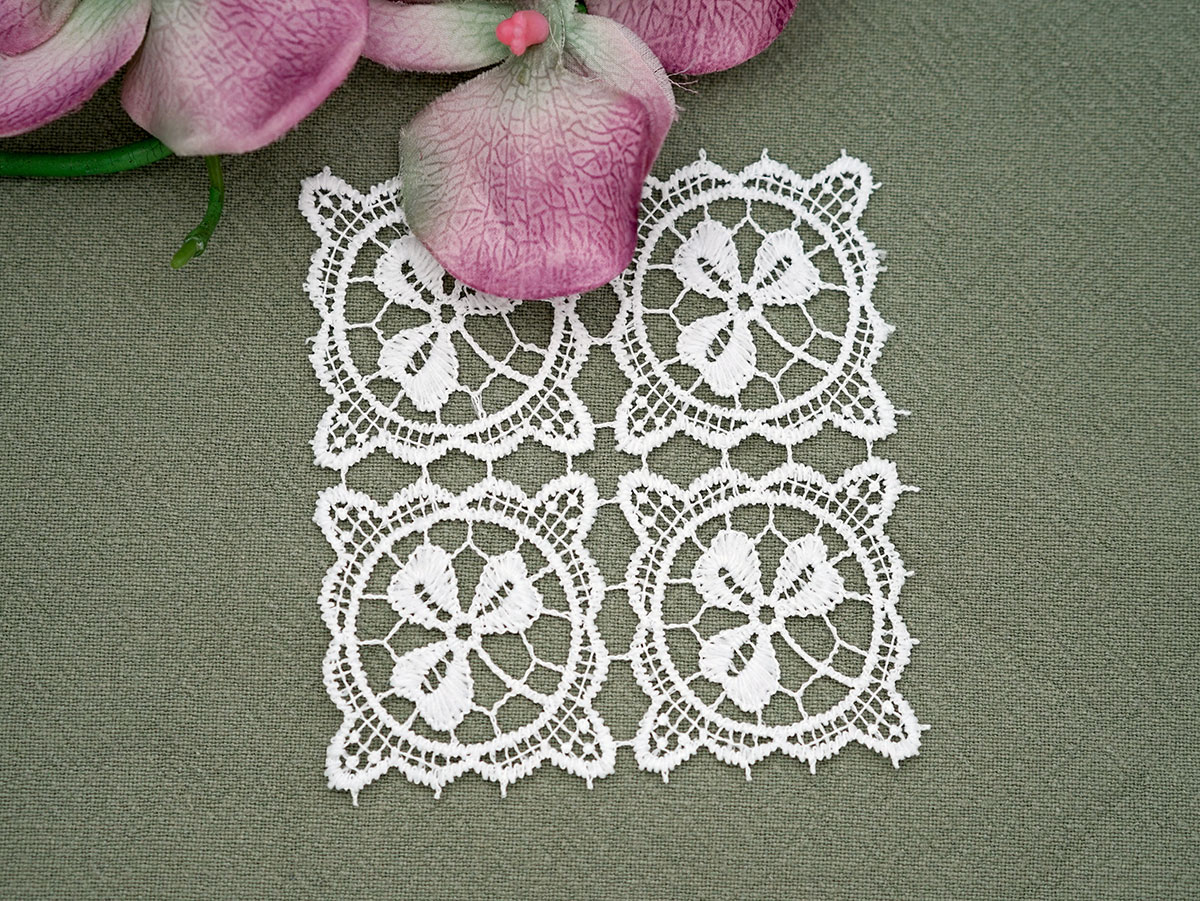 Set of 4 Irish Lace Cocktail Napkins