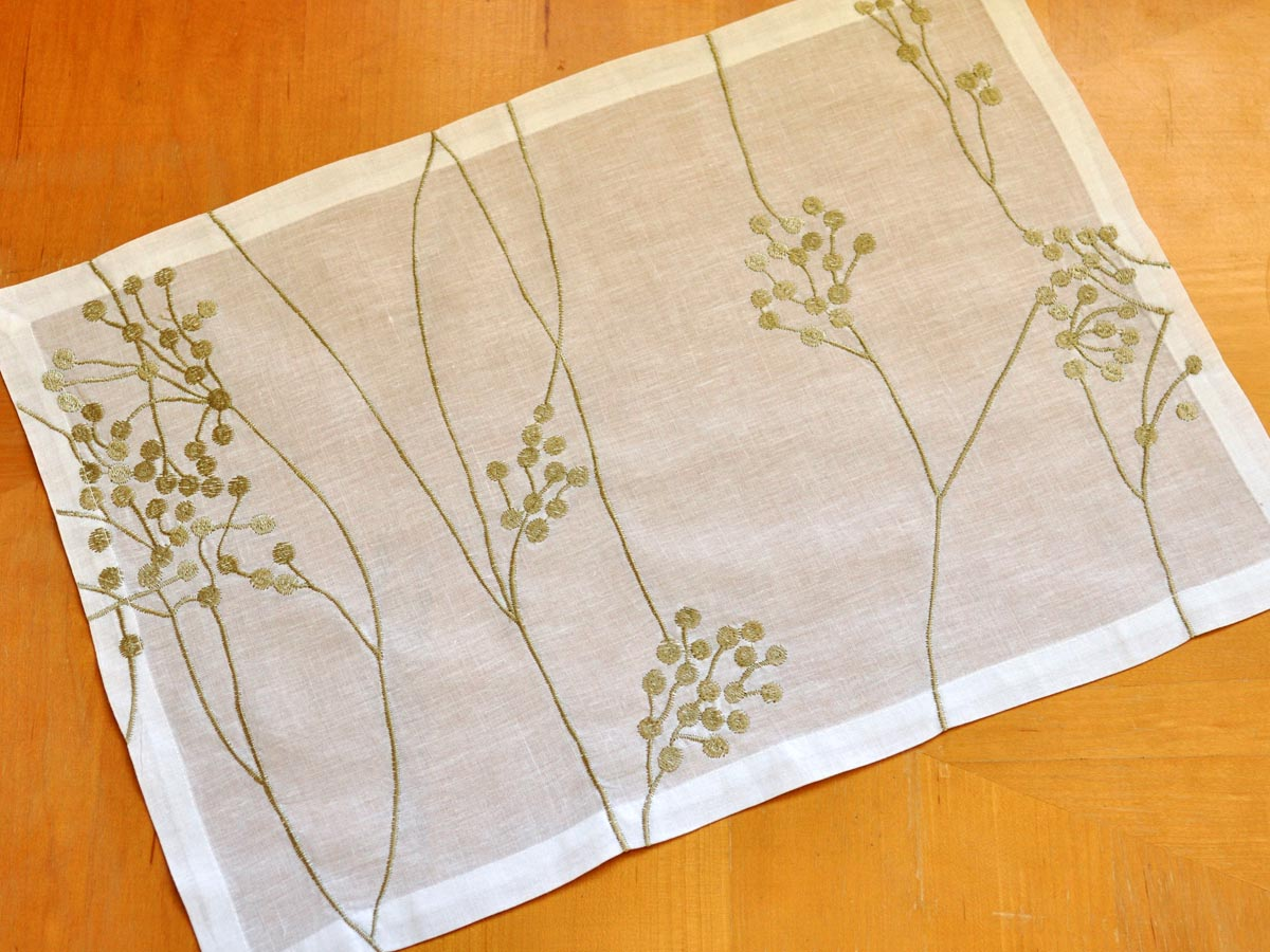 4 Pc Set Botanical Linen Placemats