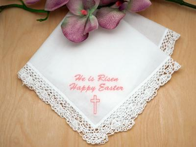 Personalized Up To 3 Lines Easter Ladies Hankie Font L