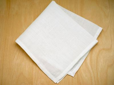 White Linen Mens Pocket Square