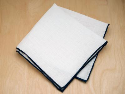 Mens Monogrammed Couples Handkerchief Font R
