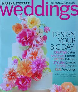 Martha Stewart Weddings Magazine Cover