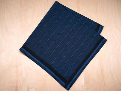 Set of 3 Dark Blue Striped Handkerchiefs