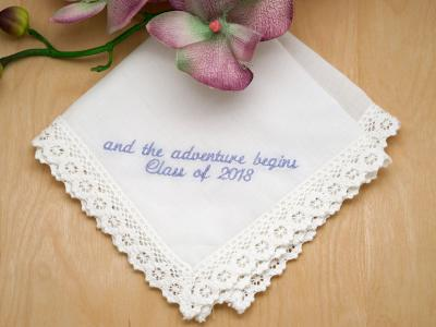 Personalized Up To 4 Lines Graduation Hankie - Font Q