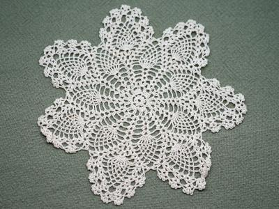 1 Dozen Ecru Crochet Lace Cocktail Napkins