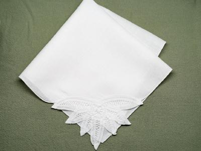 1 Dozen White Sunbeam Battenburg Lace Dinner Napkins