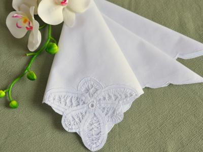 1 Dozen White Battenburg Lace Dinner Napkins