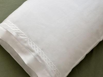 Pair of Cotton Pillowcases with A Wave Design
