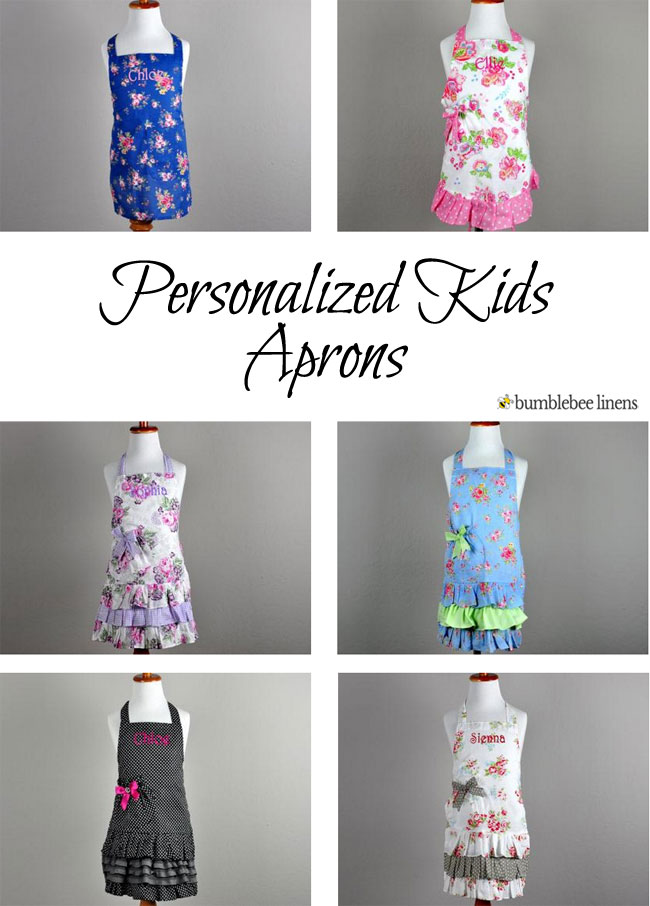 0dfcbeb1eef8 Personalized Kids Aprons, Monogrammed Mother Daughter Aprons