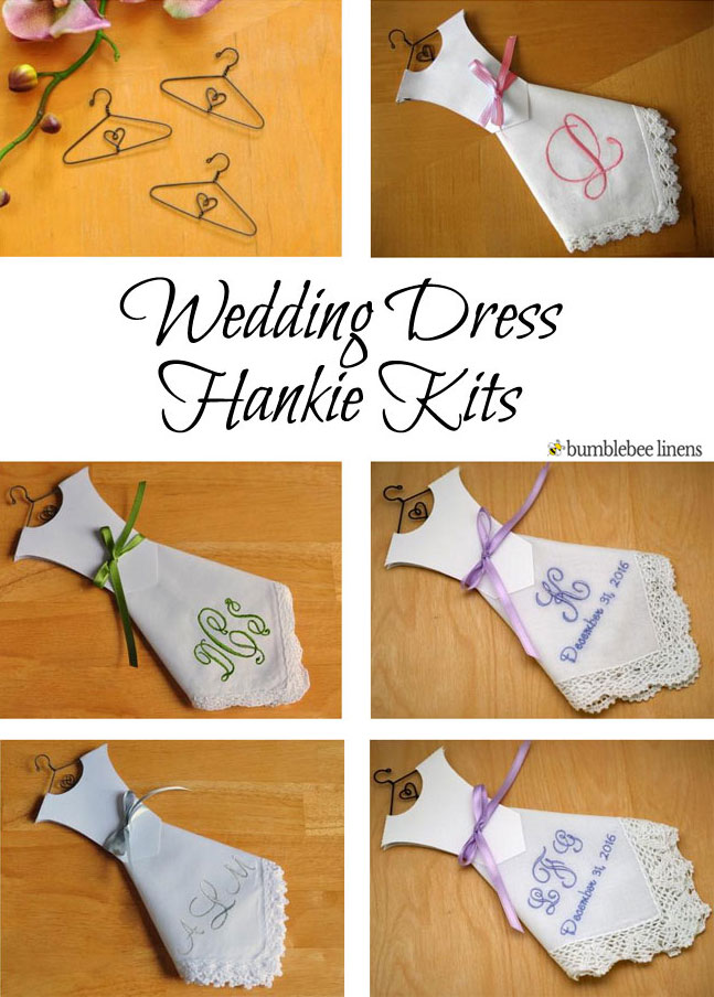 Monogrammed wedding dress hankies wedding dress handkerchiefs as seen in junglespirit Images