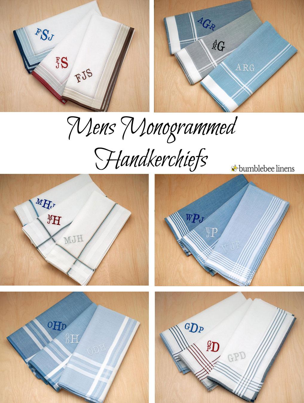 Mens Handkerchief Men S Handkerchiefs Monogrammed Hankies