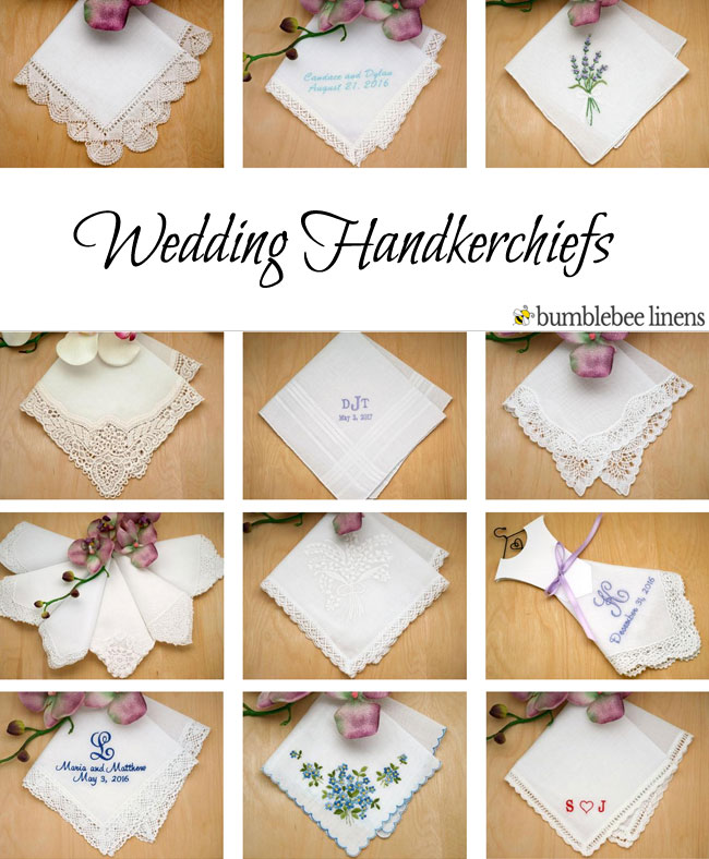 Wedding Handkerchiefs Bridal Handkerchiefs Wedding Hankies