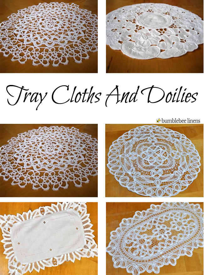 Linen Doilies Linen Doily Tray Cloths Cotton Doilies