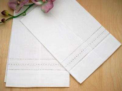 Set of four assorted hankies napkins hand towels vintage embroidered linen