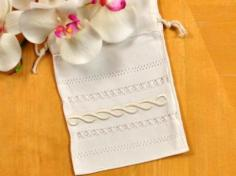 Set of 3 Ivory Favor Bags with an Infinity Design