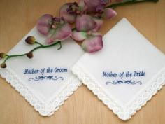 Mothers Set of Personalized Handkerchiefs - Font I