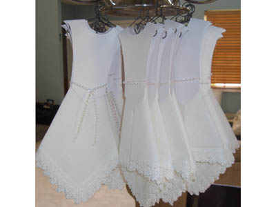 A Variation On Our Wedding Dress Hankie