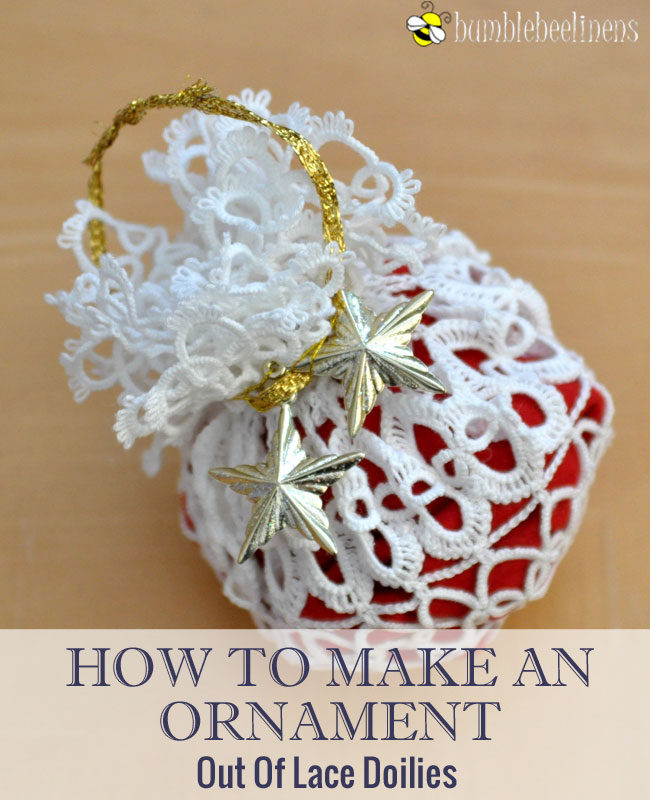 Making An Ornament Out Of Doilies