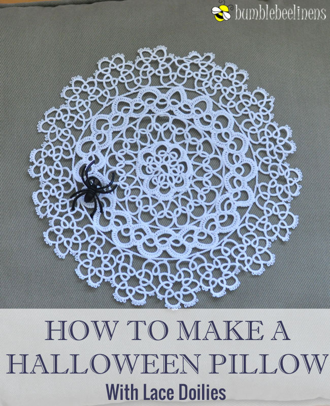 Making a Halloween Pillow With Doilies