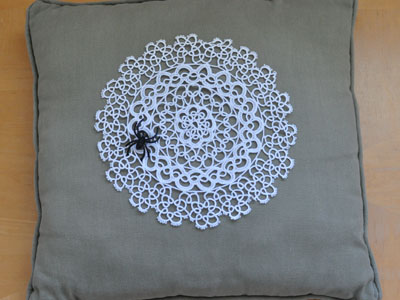 Halloween Doily Pillow