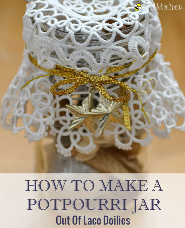 Making A Doily Potpourri Jar