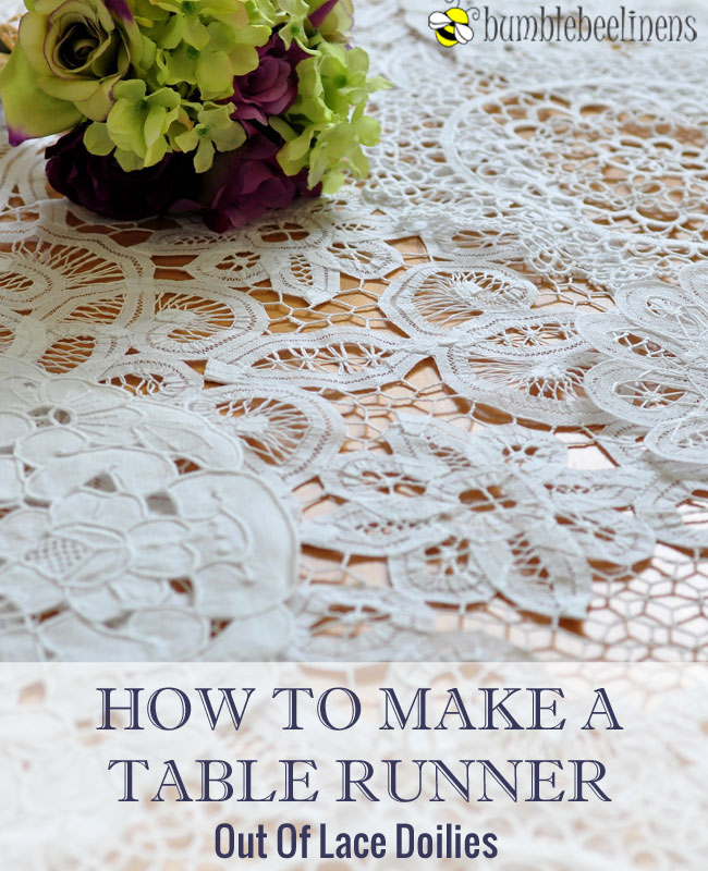 Making A Tablerunner Out Of Doilies
