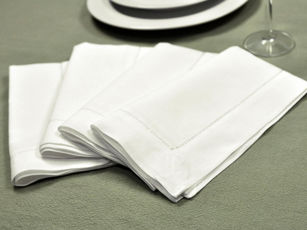 Cloth napkins are perfect for every occasion. There are many different styles of cloth napkins from solid colors to hand embroidered designs. Traditional cloth napkins are either white or ivory and made from linen.
