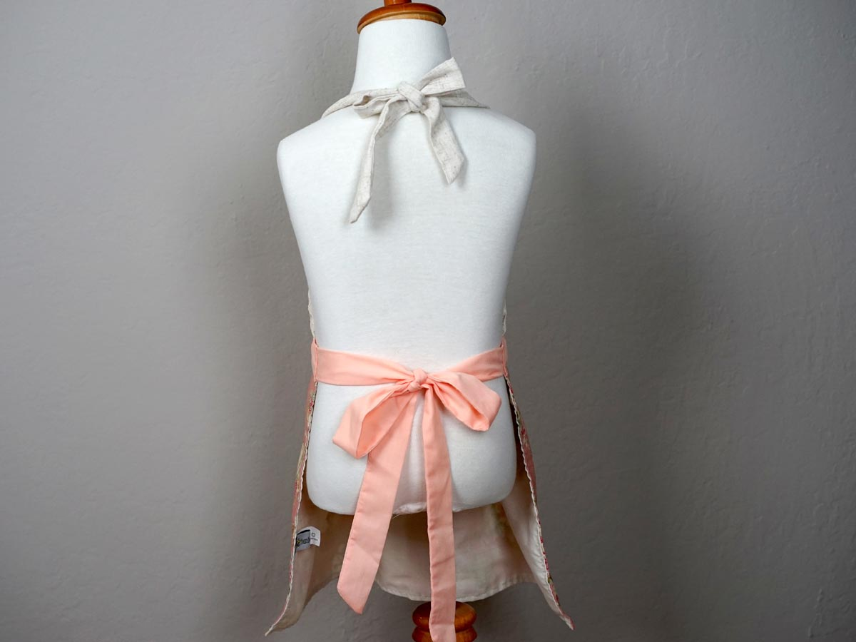 Girls Dusty Rose Floral Apron