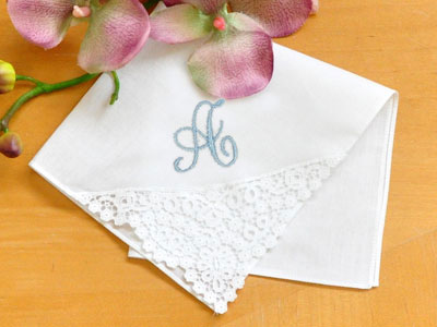 Pineapple German Guipure Lace Ladies Handkerchief
