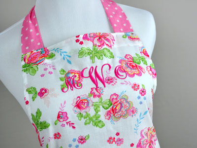 Mother and Daughter Pink Floral Apron Set