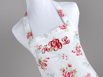 Vintage Inspired Floral Hostess Apron