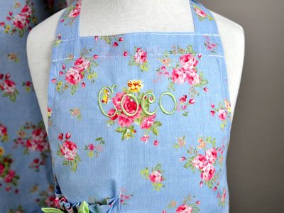 Mother and Daughter Spring Floral Apron Set
